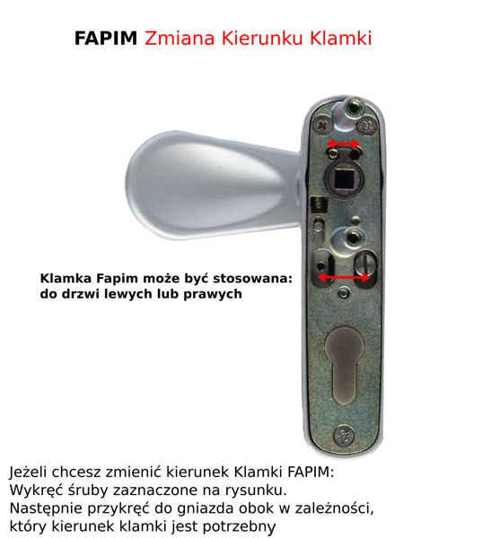 Zmiana kierunku klamki / drzwi/ FAPIM 8570 PANAMA