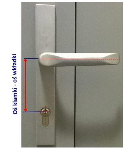 Pomiar klamki i zamka do drzwi