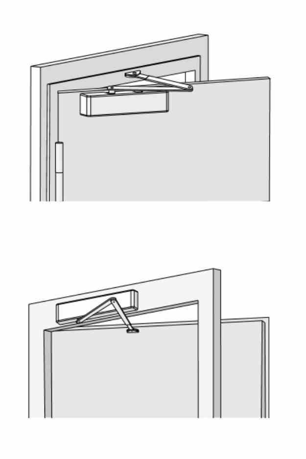 Montaż samozamykacza na skrzydle drzwi